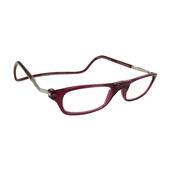 čtecí brýle CLIC na magnet na nosníku bordo poloprůsvitné