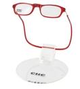 čtecí brýle CLIC na magnet na nosníku červené