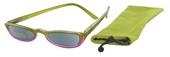Čtecí brýle ECONOMY HIP s pouzdýrkem model 981 - ZELENORŮŽOVÉ se slunečními čočkami