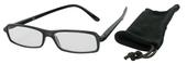 Čtecí brýle ECONOMY s pouzdýrkem, model 1169 - ŠEDÉ - +2.5 dpt