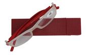 Čtecí brýle plastové SINUS s pouzdrem, model D6938 ČERVENÉ