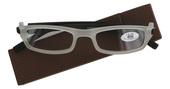 Čtecí brýle plastové SINUS s pouzdrem, model D6938 HNĚDÉ