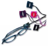 Designerský závěs na brýle model T1858 - šedá