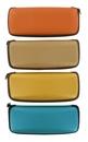 hranaté pouzdro na sluneční brýle na zip - DISCO - oranžová