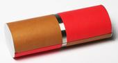 klasické luxusní dvoubarevné pouzdro model D977 - červená