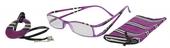 Lehké čtecí brýle FANCY s přívěskem a pouzdýrkem - FIALOVÉ - +2.5 dpt