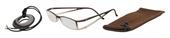 Lehké čtecí brýle FANCY s přívěskem a pouzdýrkem - HNĚDÉ