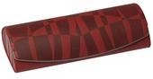 luxusní pouzdro na brýle, model D975 s plastickým vzorem - zelená