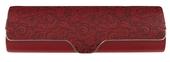 luxusní pouzdro s ornamentovou ražbou, model D765 - červená