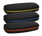 plastové pouzdro na brýle horizontální tvrdé, model D895 - žlutá