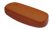 pouzdro na brýle, model D216 HNĚDÉ, struktura dřevo