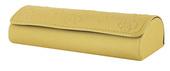 pouzdro na brýle Z5020, ražba květinový vzor - žlutá
