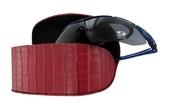 prostorné pouzdro na sluneční brýle model Z5042 - červená
