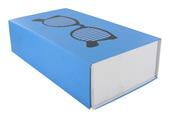 skládací krabička s motivem brýlí modrá, model T7054