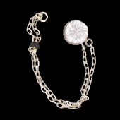 šperk na brýle Crossfor STŘÍBRO 925ST + Swarovski krystal, barva ČIRÝ KŘIŠTÁL