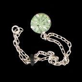 šperk na brýle Crossfor STŘÍBRO 925ST + Swarovski krystal, barva ZELENÁ peridot