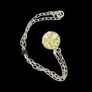 šperk na brýle Crossfor STŘÍBRO 925ST + Swarovski krystal, barva TOPAZ