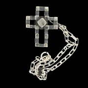 šperk na brýle Crossfor STŘÍBRO 925ST - motiv KŘÍŽ