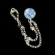 šperk na brýle Crossfor STŘÍBRO 925ST + Swarovski krystal, barva MODRÁ safír
