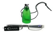 Čtecí brýle CSAWA - stříbrné - se standardním matně zeleným závěsem