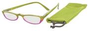Čtecí brýle ECONOMY HIP s pouzdýrkem model 981 - ZELENORŮŽOVÉ