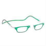 čtecí brýle CLIC na magnet na nosníku zelené