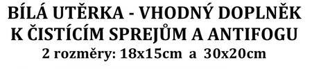 bílá čistící utěrka z mikrovlákna univerzální 250g/m2