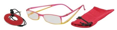 Lehké čtecí brýle FANCY s přívěskem a pouzdýrkem - ČERVENÉ