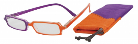 Dvoubarevné čtecí brýle FANCY CRAZY s pouzdýrkem VIO/ORG