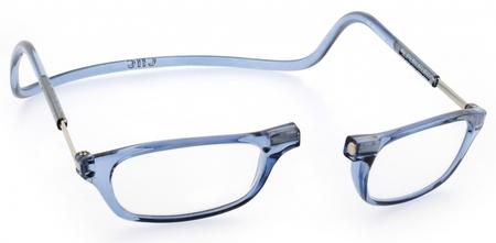 čtecí brýle CLIC na magnet na nosníku modré jeans