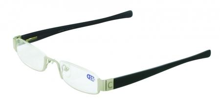 Čtecí brýle CSAWA - stříbrné - se standardním matně oranžovým závěsem
