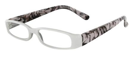 Čtecí brýle FANCY s přívěskem a pouzdýrkem - ČERNOBÍLÉ