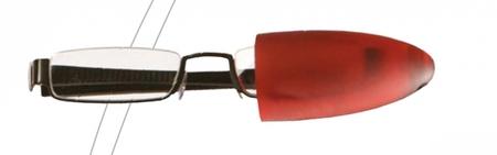 Čtecí brýle CSAWA - stříbrné - se standardním matně červeným závěsem