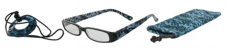 Čtecí brýle FANCY s přívěskem a pouzdýrkem - MODRÉ