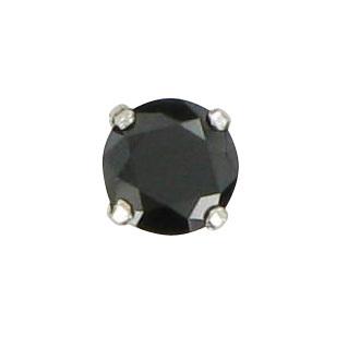 šperk na brýle Crossfor STŘÍBRO 925ST bez řetízku, zirkon ČERNÝ